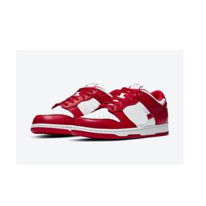 zapatos mates bajo SP Universidad rojos para la venta con la caja mejores mujeres de los hombres zapatillas de deporte almacenan precios al por mayor US5.5-US11