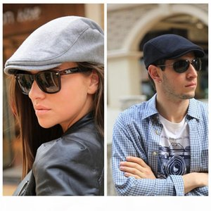 Газетчик Шляпы Fation европейский и американский стиль Hat 5 цветов Solid Color Cotton Newsboy Шляпы Бесплатная доставка