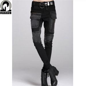 Libre Europa del envío atractivo Black Jeans mujer Lápiz Pantalones de primavera invierno holgados pantalones vaqueros ocasionales mujeres sueltan los pantalones de Haren Feminina