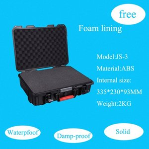 Tool case toolbox suitcase Impact resistant sealed waterproof safety ABS case 335*230*93 MM camera with foam lining sQUN#