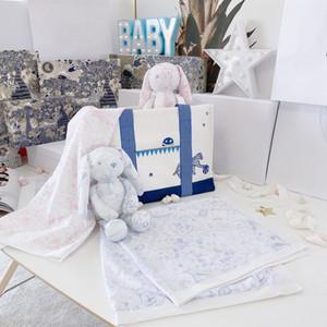 Yeni Çocuk hediyeleri bebek Sevimli Yumuşak Tavşan Doldurulmuş Hayvan bebek yumuşak battaniye erkek kız Oyuncak Bebek Bebek Uyku swaddling eşlik
