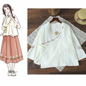 2019 estate di usura vestito delle donne di nuovo stile in stile cinese originale di design nazione ricamato ricamo migliorata cinese Abbigliamento 6HCu #