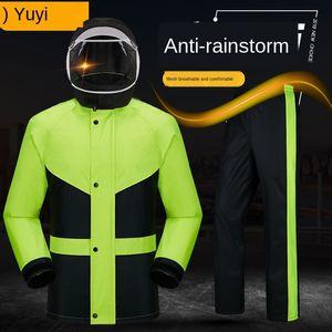 Electric vehicle raincoat suit cycling motorcycle men Motorcycle bicycle electric bicycle and women single fashion split rain