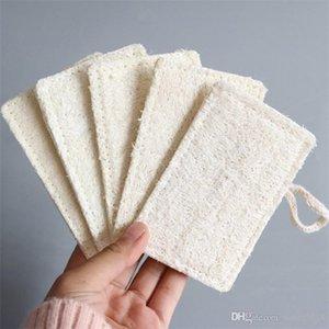11 * 7CM Naturale Loofah Pad a forma di rettangolo Esfoliante Luffa Togliere la pelle guasto perfetto per doccia e vasca Spa DHL libero