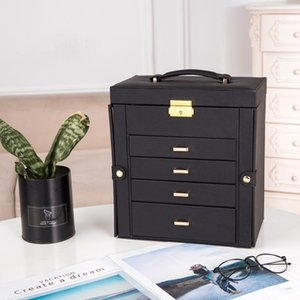 Jewelry box multi-layer large capacity hand jewelry earrings earrings watch storage box necklace ring box home storage boxs