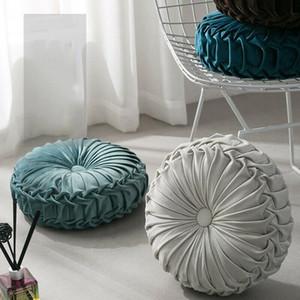 30 centímetros Nordic veludo plissado Redonda Piso almofada travesseiro Pufe Throw Pillow Início decoração do sofá assento almofada travesseiro