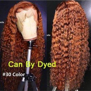 Transparente 360 Lace frontal perucas para mulheres negras Kinky Curly Virgin cabelo gratuito Parte peruca 150% Densidade Pré arrancado com cabelo do bebê