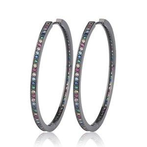 Exaggeration Circle Women Studs Fashion Diamond Ornament Female Earrings Outdoor Trendy Pattern Girl Earring Jewelry
