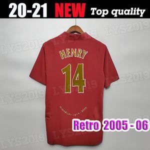 2005 2006 Gunner Retro Fútbol Jerseys Highbury 05 06 Thierry 14 # Henry Bergkamp Classic Camisa Camisetas de fútbol