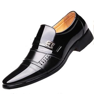 Zeguuer Marca Homens de Negócios de couro Sapatos Formal Toe Rodada vestido Masculino Wedding Shoes Suit Calçado Chaussures En Cuir