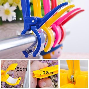Rail POP Clips Heavy Duty, large gripper plastic advertising display sign holder price tag clothes racks supermarket clips wholesale