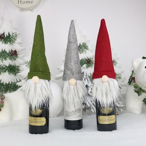 New Christmas Gift Bag Decorations Santa Claus Bag Wine Glass Bottle Set Christmas Champagne Decoration Wine BagA03