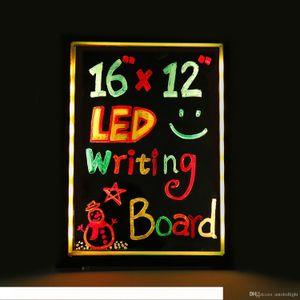 LED написание Message Board Illuminated стираемая неоновый эффект Меню ресторана Вход с 8 цветов Маркеры, 7 цветов мигающий DIY