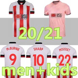 20 21 MOUSSET شيفيلد لكرة القدم الفانيلة McBURNIE المتحدة 2020 2021 LUNDSTRAM FLECK كرة القدم قميص جيرسي NORWOOD
