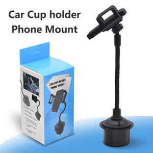 Universal Car Mount tazza del supporto del telefono per l'iPhone 11 Pro Max Samsung A71 lungo braccio di presa antiscivolo con Telefono Grip in imballaggio al dettaglio