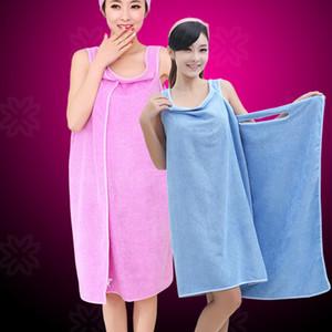 6 colores de señora Girls baño mágica suave usable Toallas toalla Ducha Body Wrap Albornoz Albornoz playa vestido usable toalla mágica DH0423