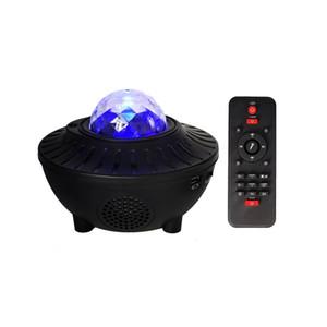 La luce di notte del LED colorato cielo stellato luce del proiettore Bluetooth USB Voice Control Music Player Speaker Galaxy proiezione della stella della lampada di compleanno