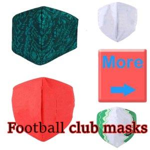 Real Madrid Fußball-Maske Baumwolle nachhaltige Nutzung austauschbare Einwegmasken Großhandel Fußballmannschaft Club Protect Fußball Maske flamengo