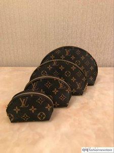 2020 Hot sale classic flower 4pcs make up handbag bags quality composite 4 pieces set women make up purses wallet Storage bag