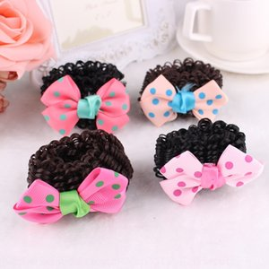 Bow Korean cloth hair plate children's accessories Princess Ballet Girl Hair ring Accessories wig Wig Wig