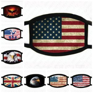 USA America Flag Eagle Trump Print Masks Washable Cotton Face Mask Breathable Summer Women Man Outdoor Cycling Masks 2020 new D52009