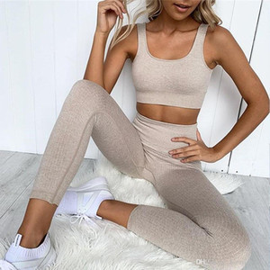 Designer Yoga Sportswear Trainingsanzüge Fitness 2pcs Gymshark Gleiche Stallging Leggings Outdoor Outfits Sports BH Indoor Anzug Kleidung Anpassbare YOGAWORLD Richten Hose
