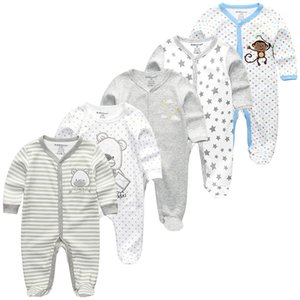 Winter 5Pcs Newbron Full Sleeve Baby Rompers Sets Baby Jumpsuit Infant Girl&Boys Clothes roupas de
