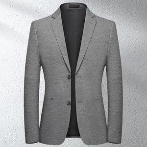 wsryxxsc Marque Hommes Blazer sauvage Retro Prom costume pour hommes Veste de haute qualité de la mode style britannique Slim Fit Casual Blazer Homme