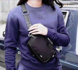 Nuevo MINI Hombres del cinturón de lona alta de hombro blanco del bolso de la PU del bolso del pecho cintura bolsas de usos múltiples de la taleguilla del bolso de hombro Mensajero mujeres libera la nave
