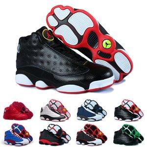 13s mens basketball shoes History Of Flight He Got Game Phantom Black Cat bred Hyper Italy Blue 13 men sports shoes Sneaker