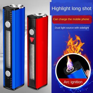 DxFON Outdoor cigarro arco er carregamento tesouro flash flashlight isqueiro forte iluminação óptico-acústico de alarme cobrando tesouro wo