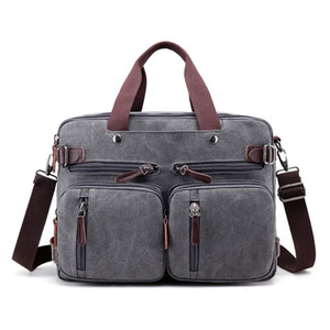 """Tela 17"""" Laptop bag maschile spalla zaino portatile 14 15 15,6 17,3 pollici femminile elegante borsa di grandi dimensioni 3 in 1 notebook Nero Grigio T200720"""