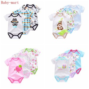 3 Pieces lot Brand Summer Baby Boys Romper Animal style Short Sleeve cotton infant rompers Jumpsuit cotton Baby Newborn Clothes
