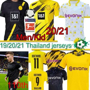Borussia Dortmund HAALAND REYNA camiseta de fútbol número 110 19 20 21 PELIGRO GOTZE SANCHO BRANDT E.CAN REUS Witsel Jersey camisa de los hombres del fútbol tailandés
