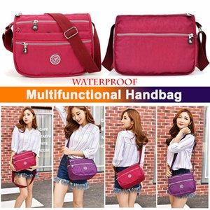 Cruz Shoulderbag Corpo Moda Nylon multi bolso Messenger Bag da Mulher Waterproof Ao longo férias Viagem Satchel bolsa Mochila