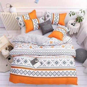 2020 Designer 3D impresso cama jogos de cama elegante terno 4 Pcs edredão suprimentos Capa de alta qualidade roupa de cama Em armazém