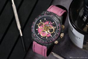 WWF Super02 reloj DE lujo 7750 timing movement carbon fiber double-sided electroplating high permeability film process