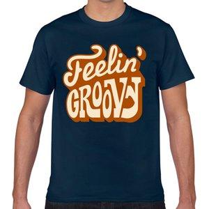 Tops T-Shirt Männer Feelin starker Jahrgang Schriftzug Comic Aufschriften drucken Male T-Shirt