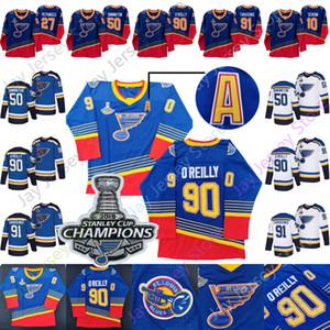 St. Louis Blues Jersey 2019 Champions-Patch Brayden Schenn Jaden Schwartz Alex Pietrangelo Binnington Ryan O'Reilly Vladimir Tarasenko