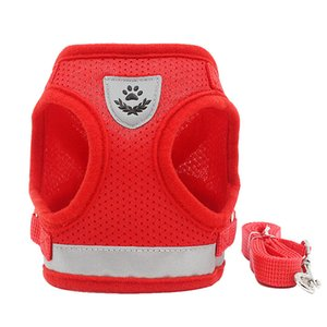 Hot style pet leash vest type reflective dog breast strap breathable rope supplies wholesale