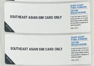 삼성 갤럭시 유럽 아시아 SIM 카드를위한 범용 휴대 전화 봉인 라벨 스티커 만 southe DHL 페덱스 무료 배송을 middlee