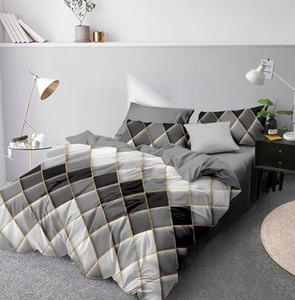 Denisroom luxury bedding sets gery duvet cover set queen king size bed set AU11#