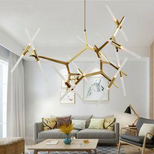Lámpara moderna Comedor tubo del rollo Colina Agnes lámpara de cristal Hotel Home Living dormitorio de techo PA0042