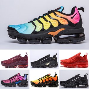 HOT sale TN PLUS Running Shoes For Men Women Black Speed Red White Anthracite Ultra White Black 2019 Best Designers Sneakers B2L6U