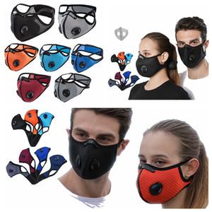 Спорт на открытом воздухе Велоспорт маски с двойной дышащий клапан РМ2,5 Антифог Анти пыли Защитная маска Проектировщик лица Маски с фильтром RRA3383