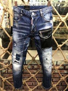 Dsquared2 DSQ2 La nueva llegada de calidad superior diseñador de los hombres D2 Individuo fresco Jeans bordado pantalones forman agujeros Pantalones Italia Tamaño 44-54 A179