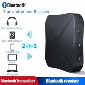 Vehemo Bluetooth V4.2 Moda coche FM de audio estéreo Transmitte Música de auriculares de manos libres Altavoces Receptor de TV adaptador de audio LBZv #