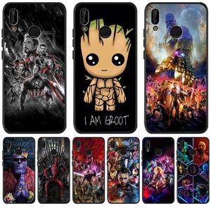 Marvel Avengers Groot für Samsung Galaxy S11 Plus-S11e Xiaomi mi 9T Redmi Note 5 6 7 8 K20 Pro Telefonkasten coque Funda Silikon