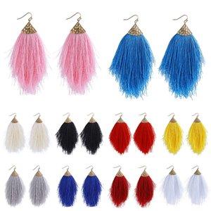 Bohemian Ethnic Christmas Fringe Dangle Earrings Women Long Tassel Hook Boho Jewelry Chunky Drop Earrings Party Accessories