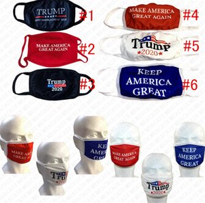 2020 Trump Letters Masks Washable Designer Face Mask Double Layers Protective Mouth Cover Make America Great Again Print Cotton Mask D72805